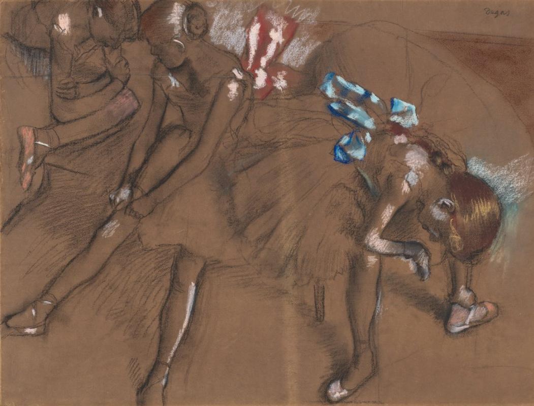 Edgar Degas. Three ballerina rest