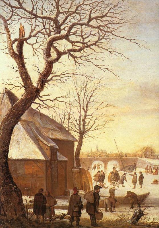 Хендрик Аверкамп. Зимний пейзаж.