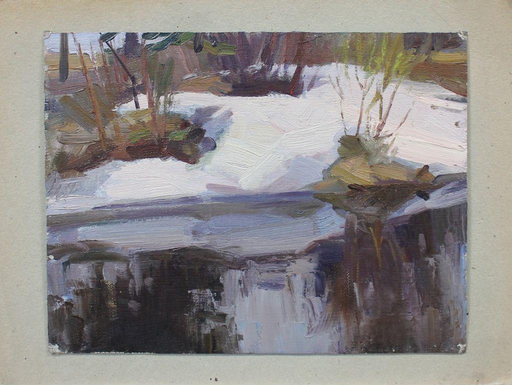 Eugene Mikhailovich Emelyanov. Spring landscape