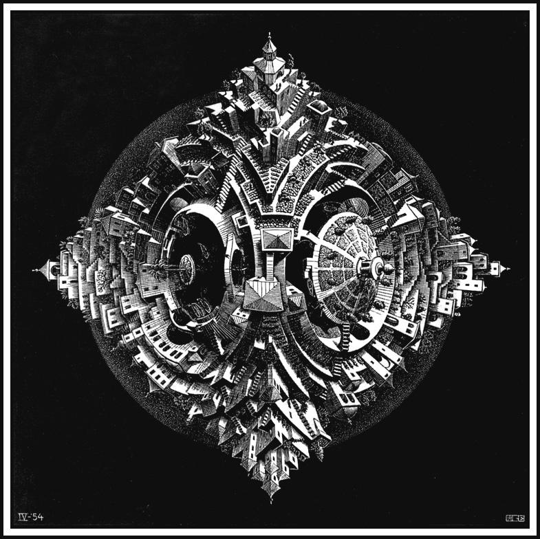 Мауриц Корнелис Эшер. Четырехгранный планетоид