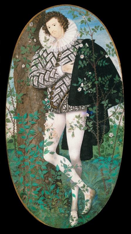 Николас Хиллиард. Юноша среди розовых кустов (Портрет Роберта Девере, второго графа Эссекса)
