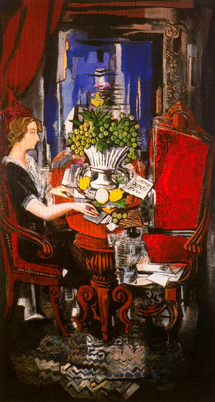 Исмаэль Гонсалес де ла Серна. Женщина с письмами за столом