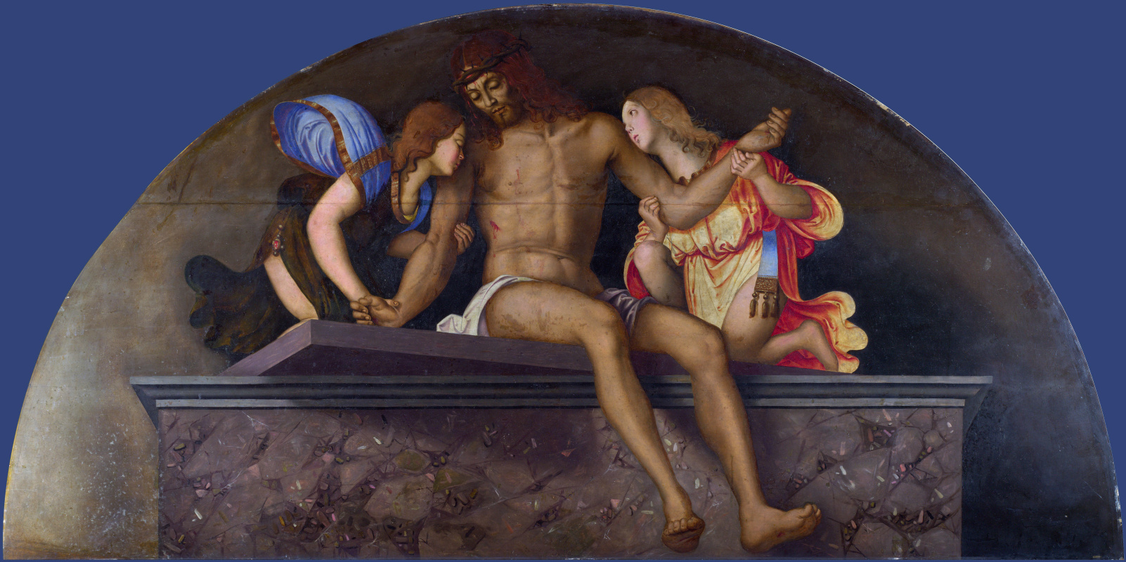 Заганелли Франческо. Мертвый Христос с ангелами