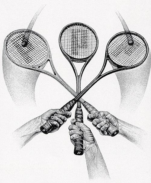 Гарри Дэвис. Три ракетки
