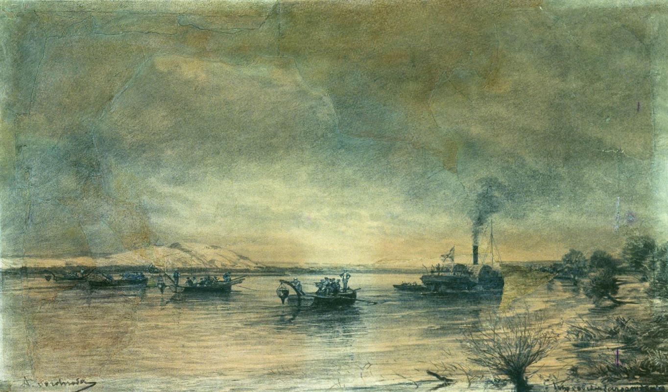 Алексей Петрович Боголюбов. Постановка сфероконических мин на Дунае 1878 год