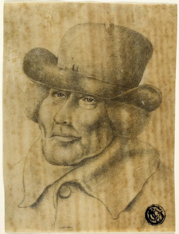 Жан-Жак де Буассье. Портрет мужчины в шляпе и пальто
