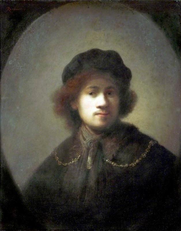 Рембрандт Харменс ван Рейн. Автопортрет в юном возрасте