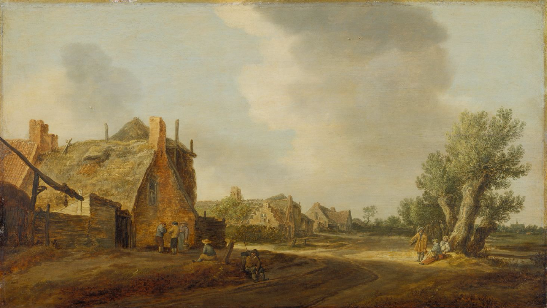 Jan van Goyen. Village street