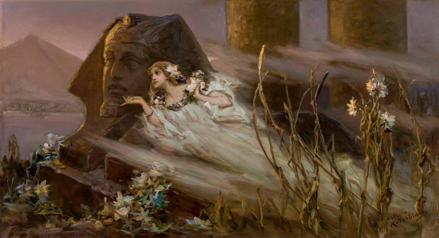 Вильгельм Александрович Котарбинский. Туман Нила (Сфинкс и призрак женщины)