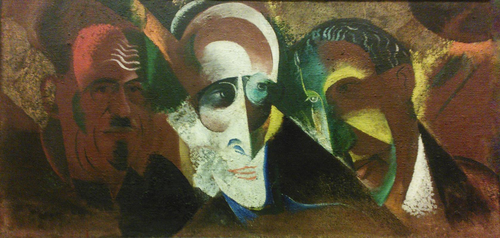 Victor Palmov. Group portrait (M. Stranger, S. Tretyakov, M. Aseev)