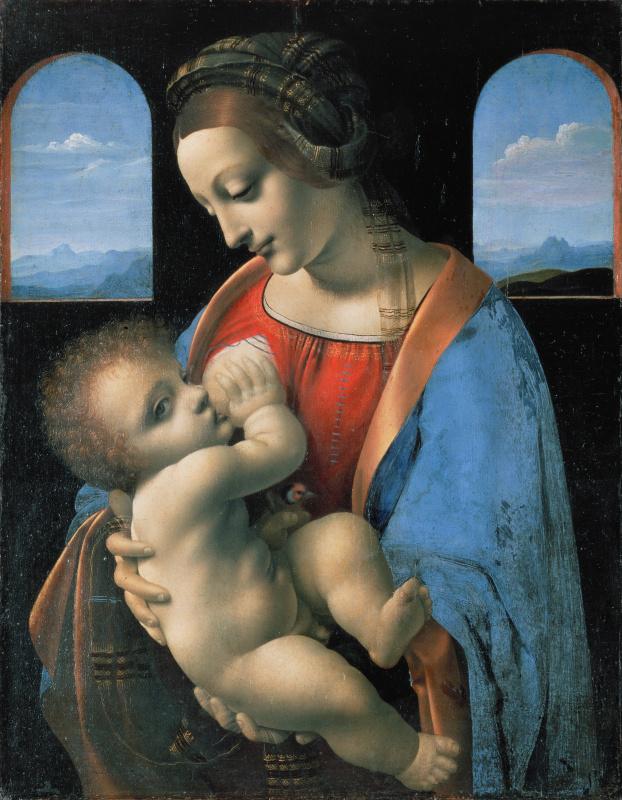 Leonardo da Vinci. Madonna Litta