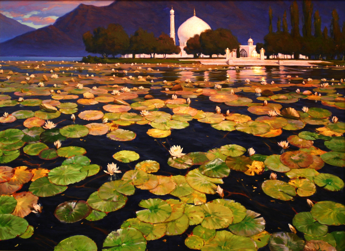 Artem Beams. All beauty of the world in the Lotus flower