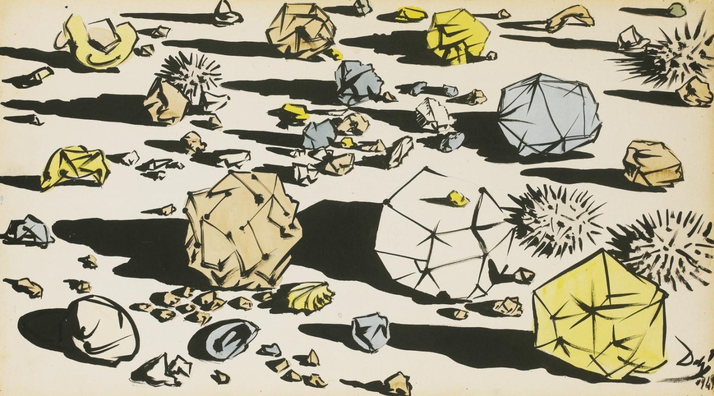 Salvador Dali. Afternoon Stones (etude)