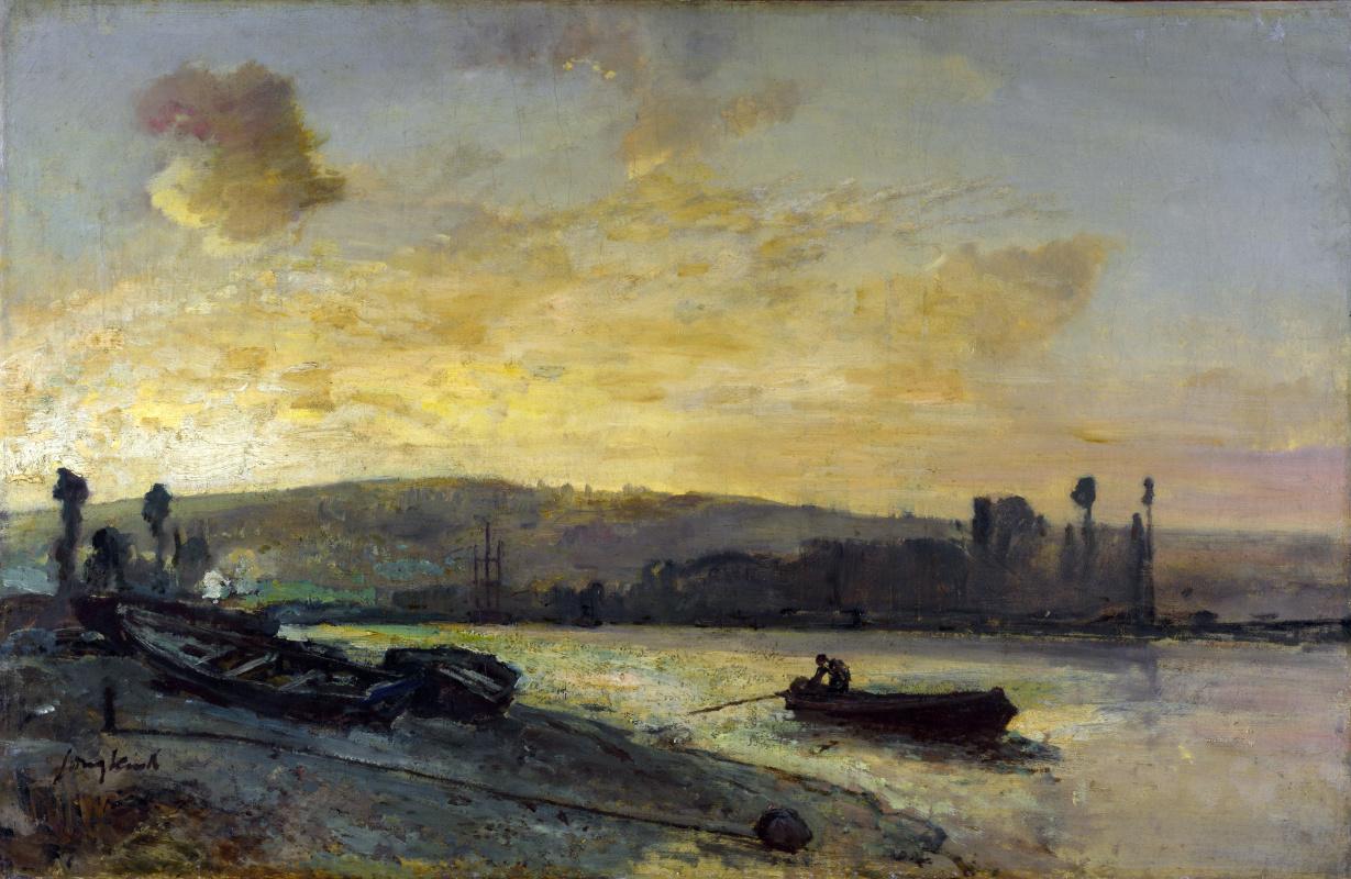 Ян Бартолд Йонгкинд. Река