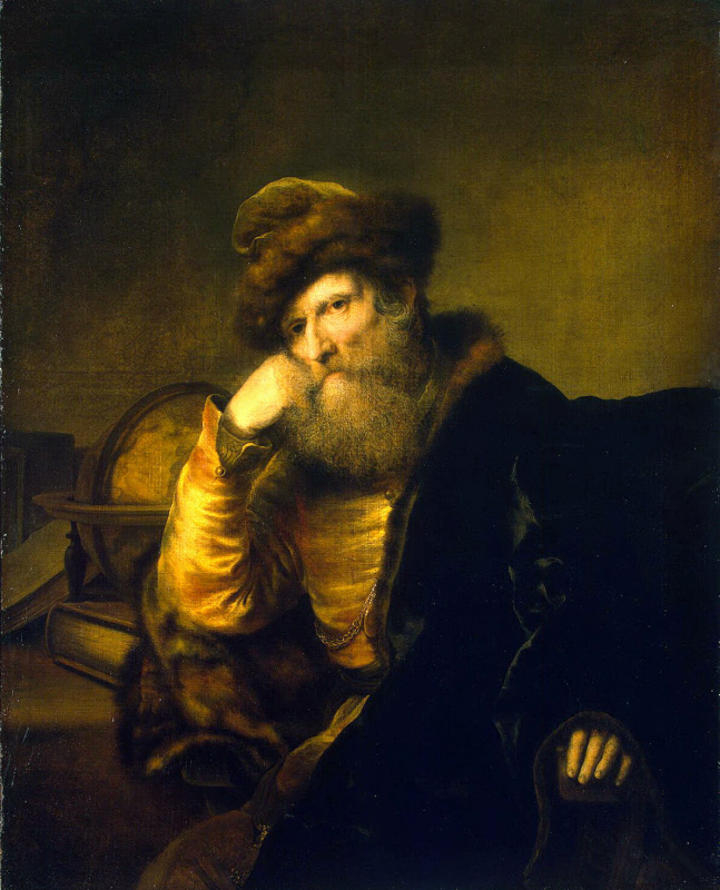 Фердинанд Балтасарс Боль. Портрет ученого, сидящего у стола