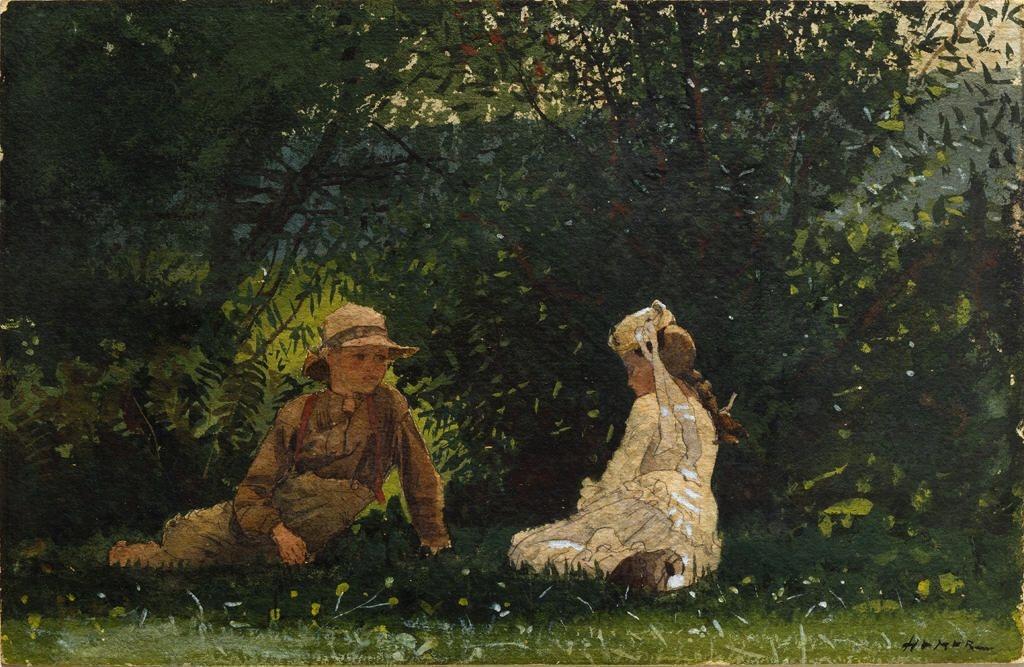 Winslow Homer. Farm scene