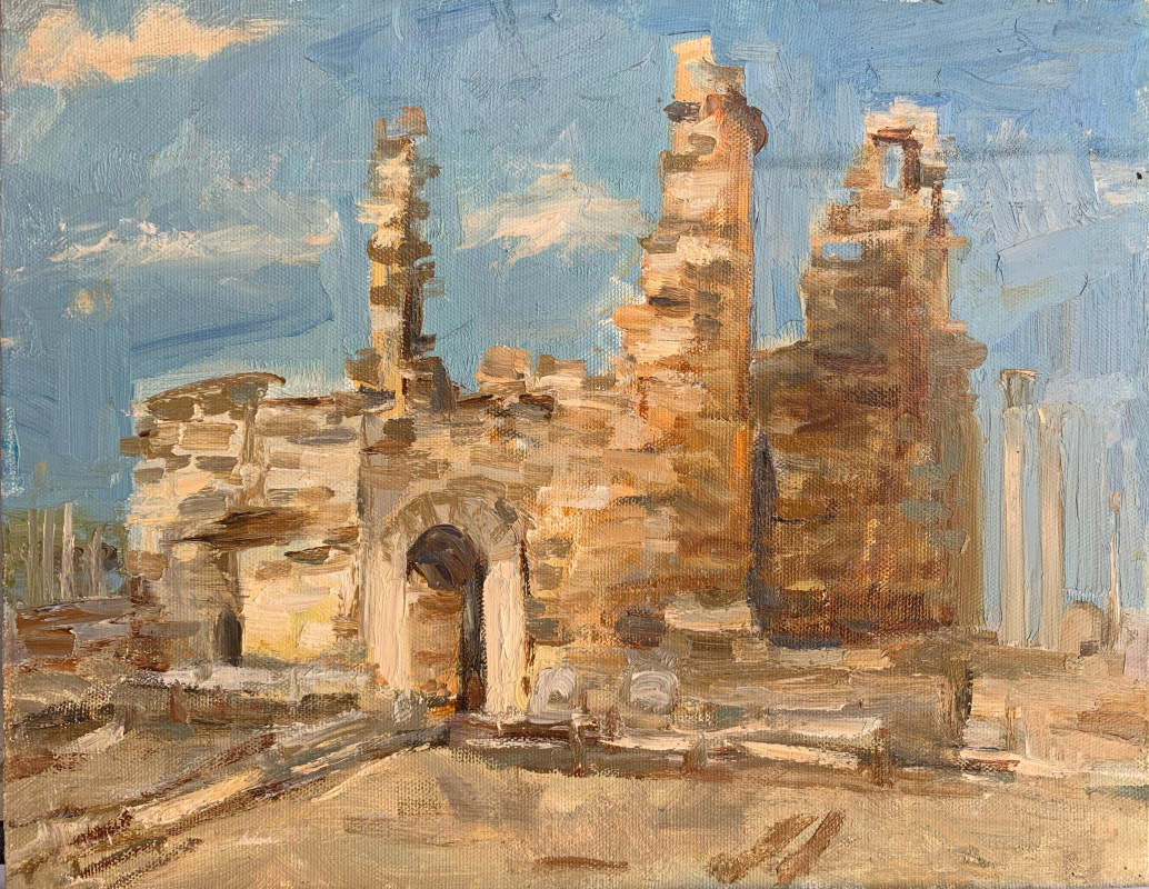 Alena Sukhoborova-Kazarina. Ruins of the ancient city. Antalya.