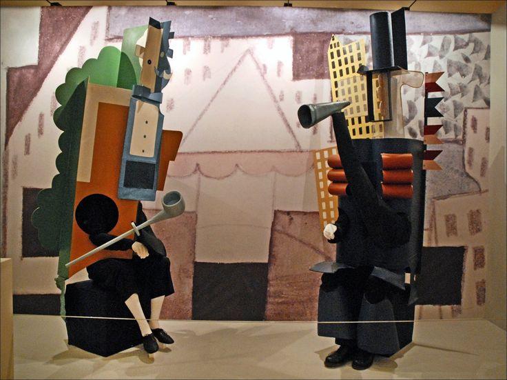 """Пабло Пикассо. Персонажи двух управителей из балета """"Парад"""""""