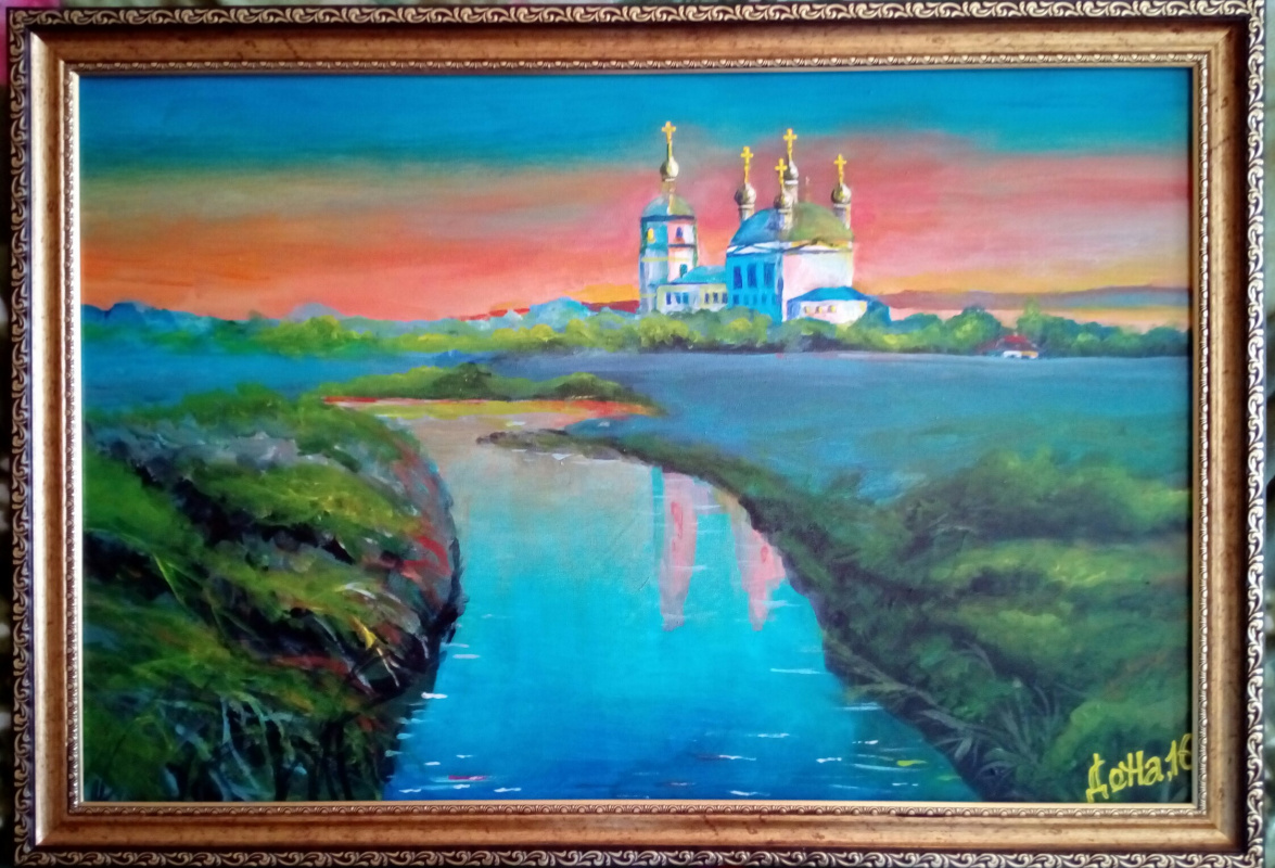 Natalia Anatolyevna Leisure. Church by the river