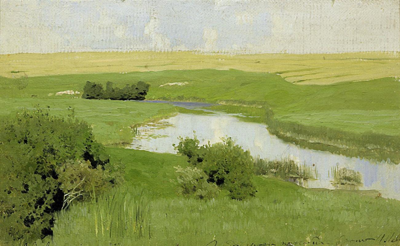 Исаак Ильич Левитан. Речка Истра