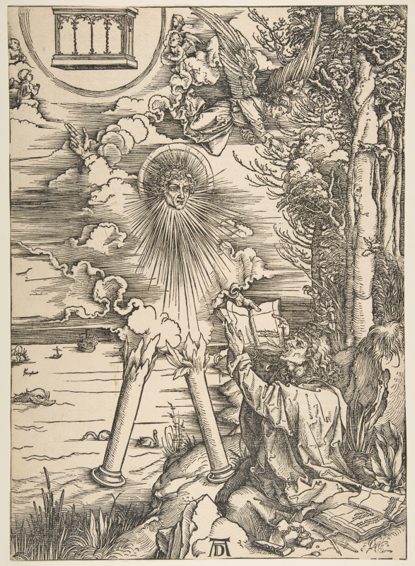 Albrecht Durer. St. John devours the book