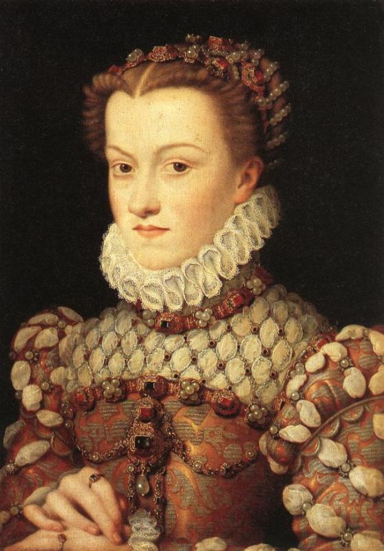 Франсуа Клуэ. Елизавета Австрийская, королева Франции