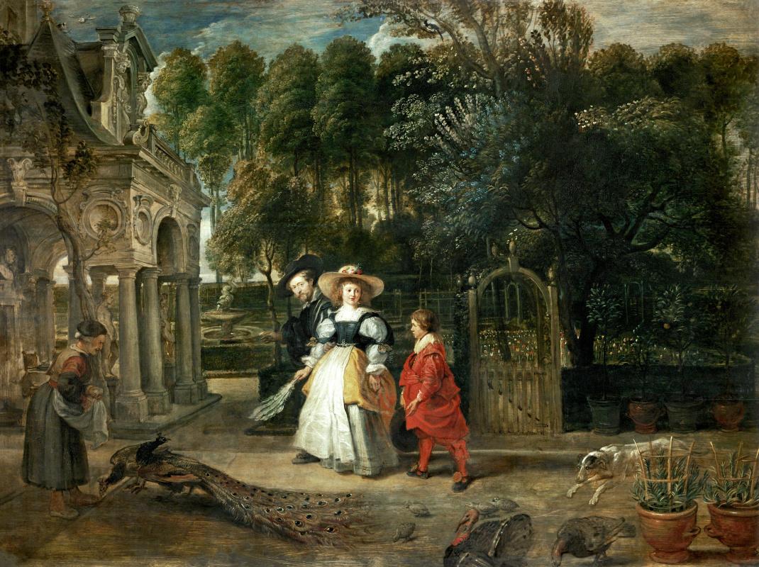 Питер Пауль Рубенс. В своем саду с Еленой Фурмен