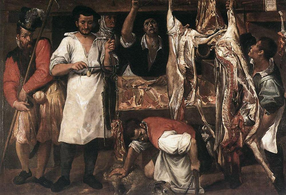 Annibale Carracci. Butcher's shop
