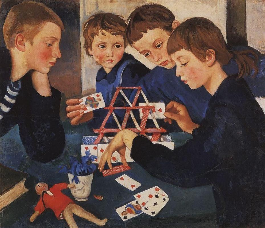 Zinaida Yevgenyevna Serebriakova. House of cards