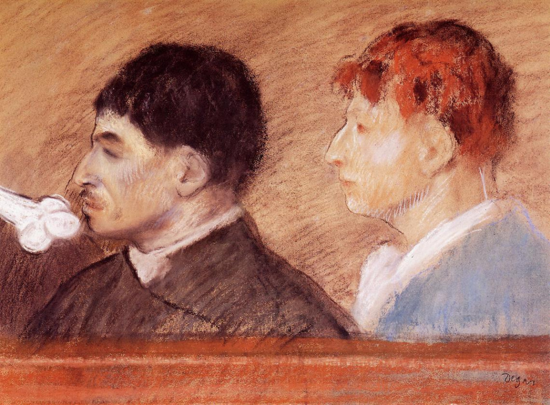 Edgar Degas. Portraits of criminals