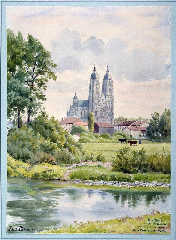 Пьер-Поль Прюдон. Вид на базилику Святого Николая