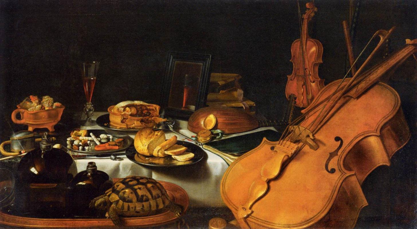 Pieter Claesz. Still life with musical instruments