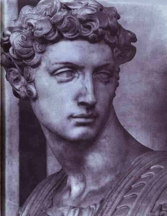 Микеланджело Буонарроти. Гробница Джулиано Медичи. Фрагмент.