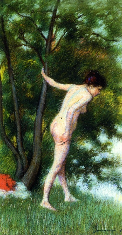 Federico Zandomenegi. Bather in the woods