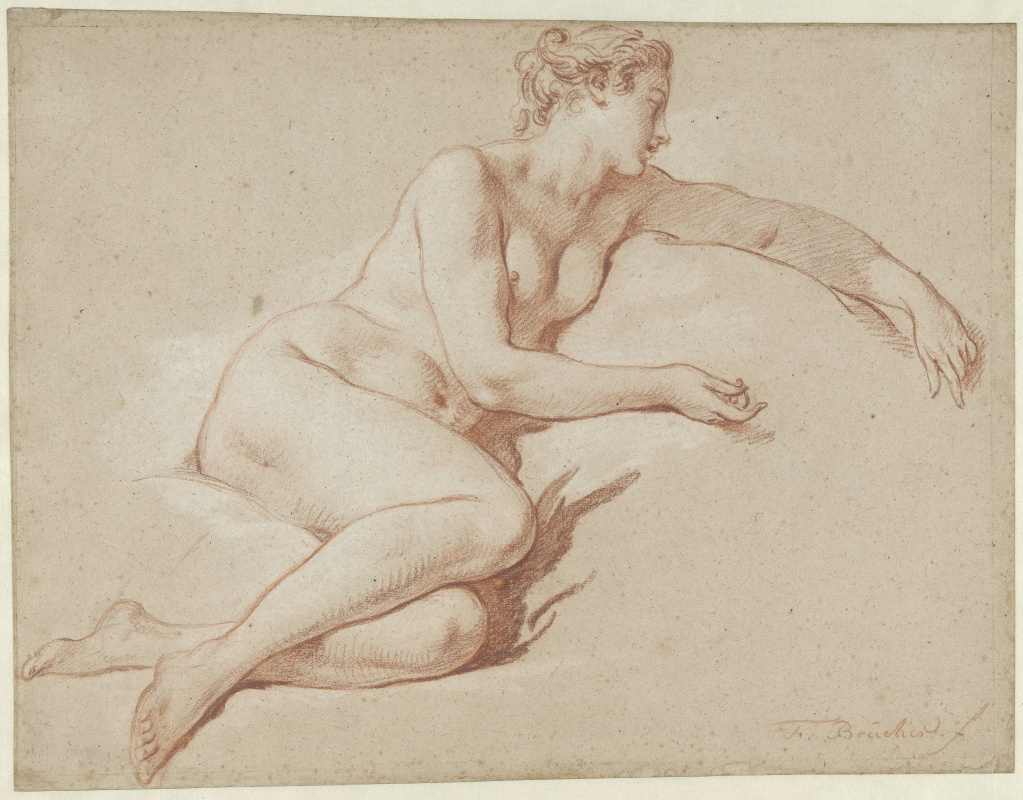 Francois Boucher. Reclining Nude
