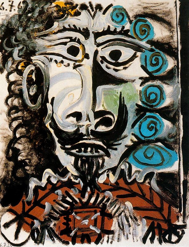 Пабло Пикассо. Голова мужчины