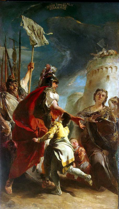 Джованни Баттиста Тьеполо. Кориолан под стенами Рима