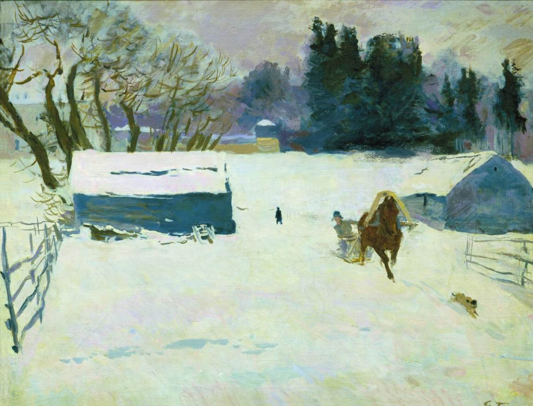 Sergey Vasilyevich Gerasimov. Winter