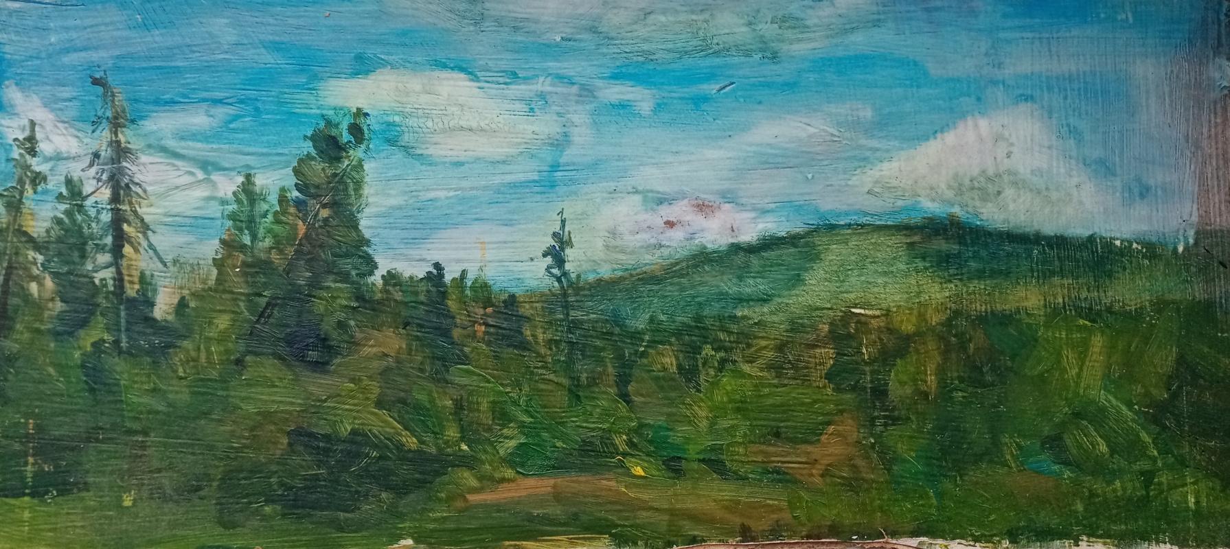 K Bhoff. Этюд , лес