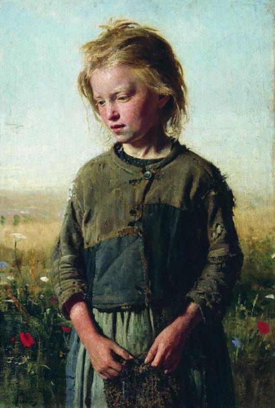 Ilya Efimovich Repin. Poor (Girl-fisherwoman). Vel