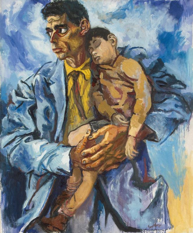 Renato Guttuso. Portrait of Rocco with his son