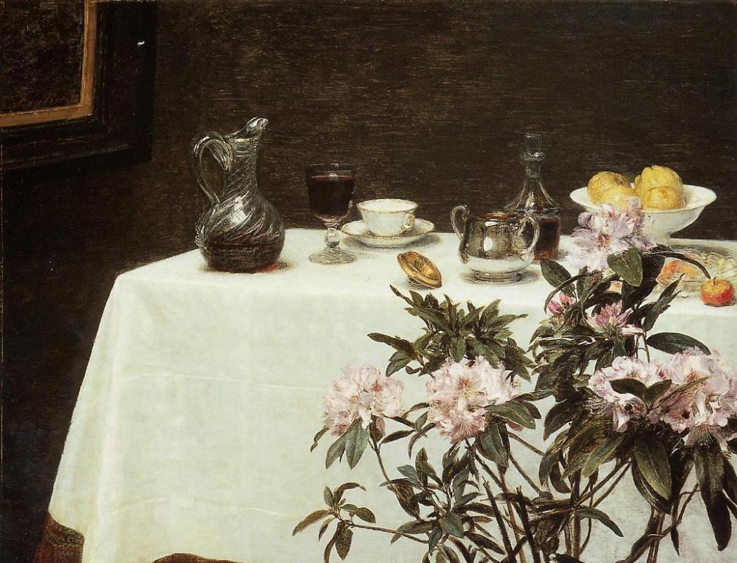 Henri Fantin-Latour. White tablecloth
