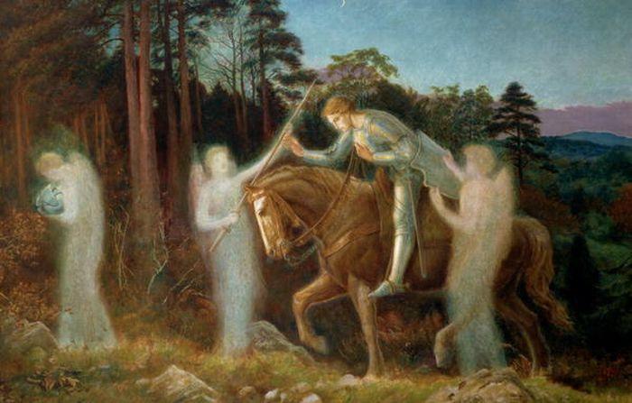 Arthur Hughes. Sir Galahad. In search of the Holy Grail