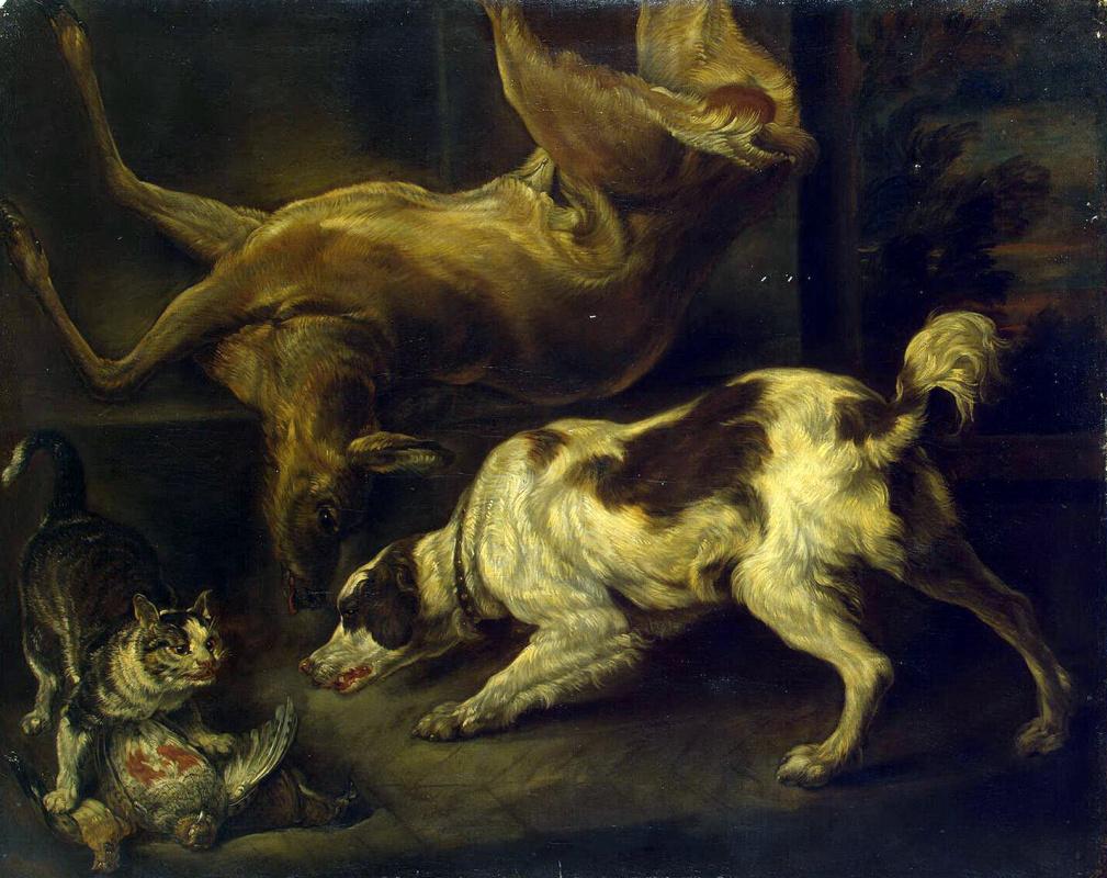 Чарльз Джервас. Олень, собака и кошка
