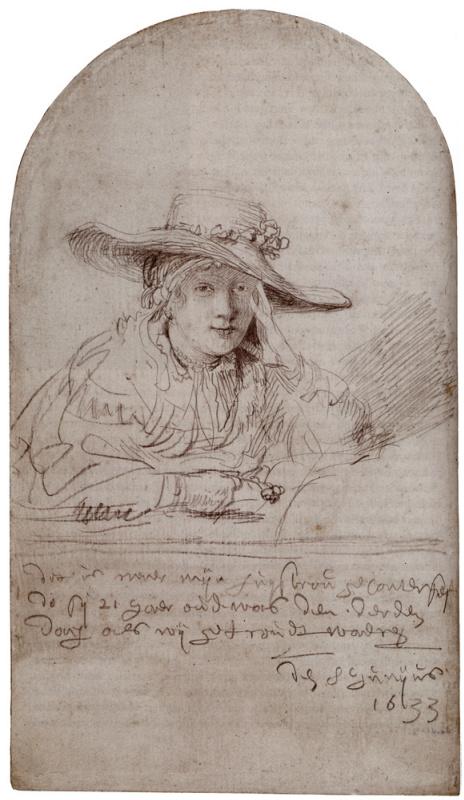 Рембрандт Харменс ван Рейн. Саския-невеста (Саския в соломенной шляпе)