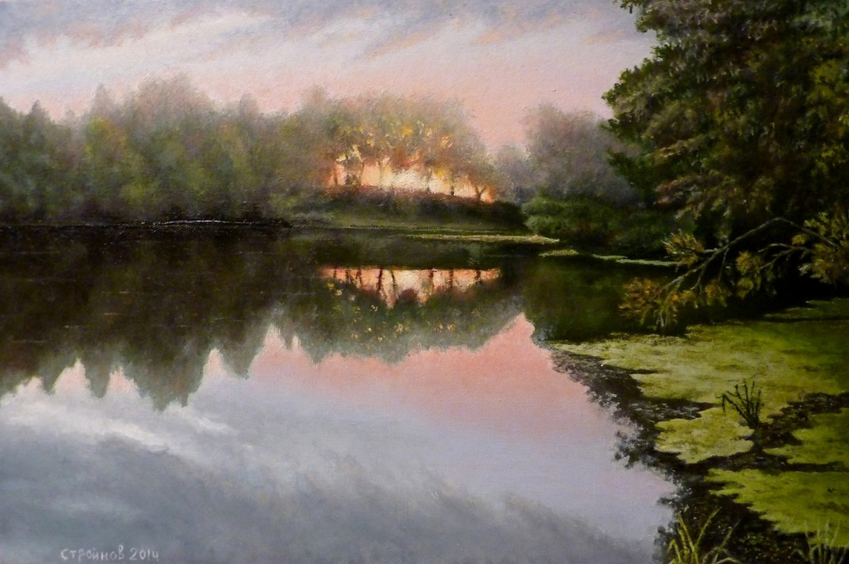 "Vitaliy Vadimovich Stroynov. ""Dawn on the Uza River."""