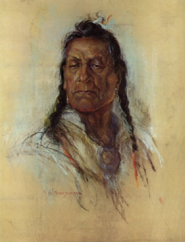 Индейский портрет 58