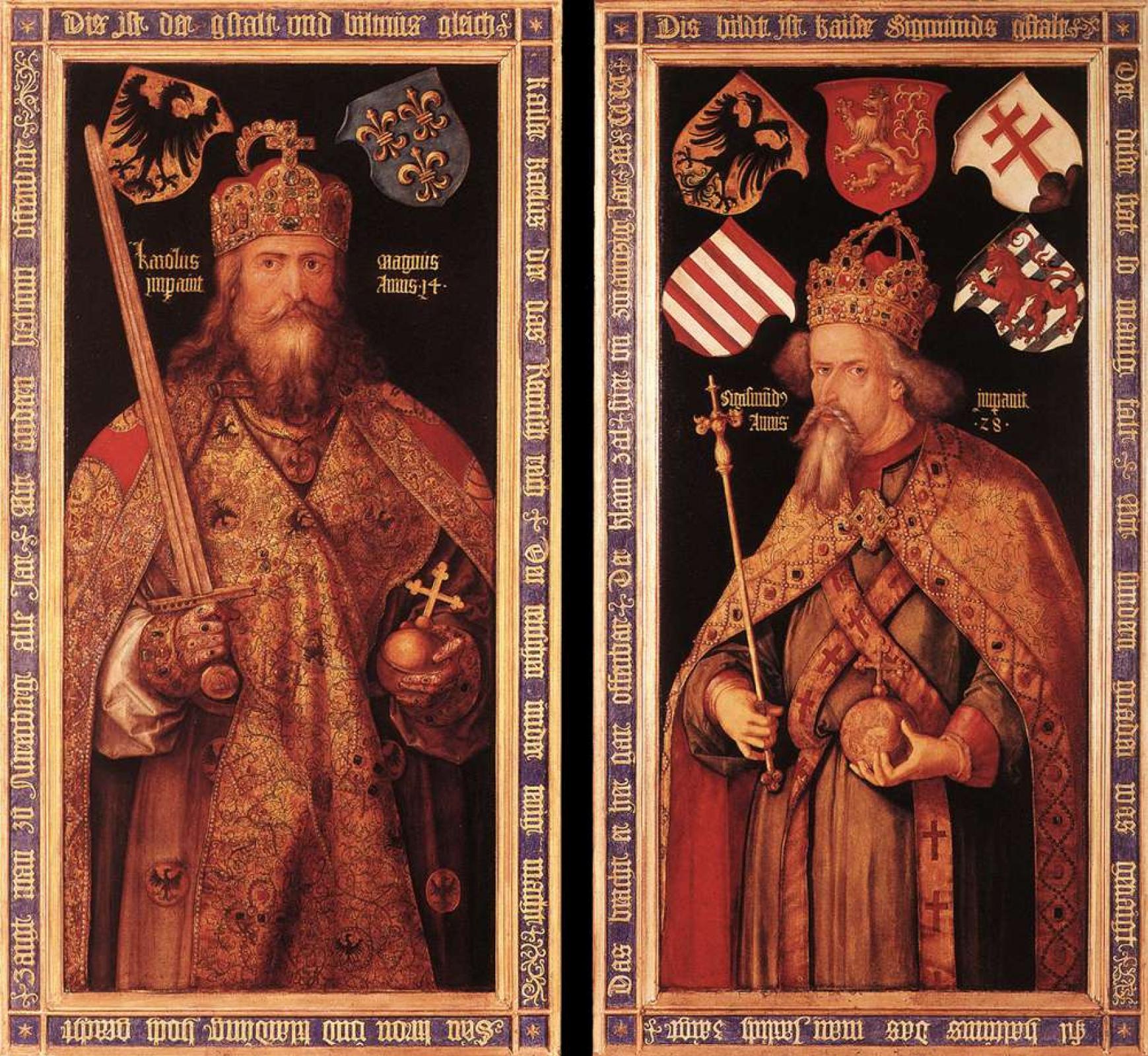 Альбрехт Дюрер. Император Карл Великий и император Сигизмунд