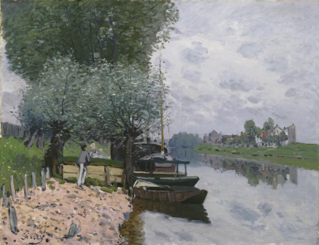 Альфред Сислей. Сена близ Буживаля