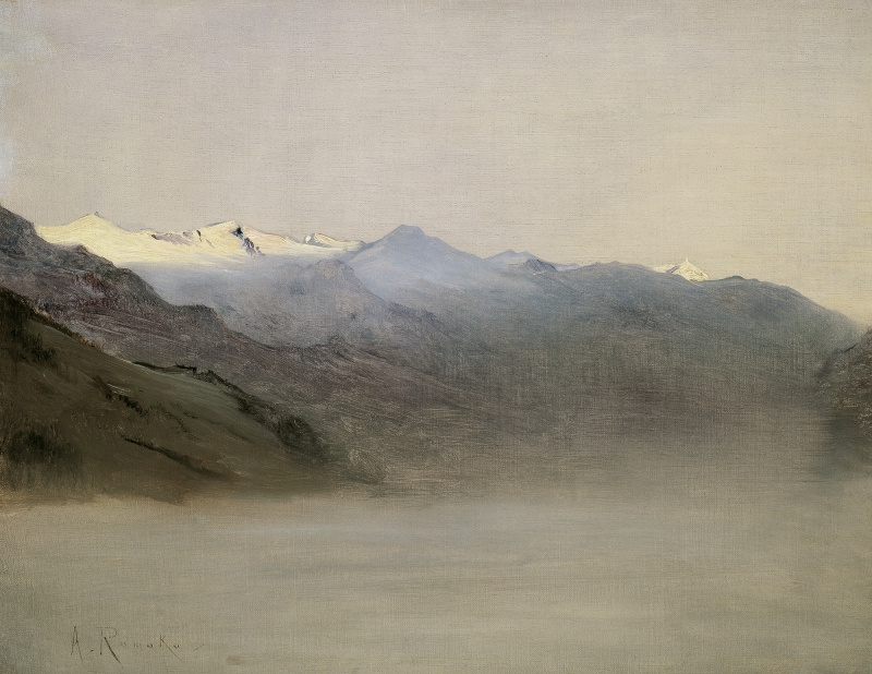 Anton Romako. Gastein Valley in the Mist